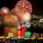 諏訪湖サマーナイト花火・・毎晩開催中です