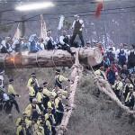 御柱祭、下社山出し豪快に開幕!