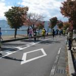 諏訪湖マラソンでした!
